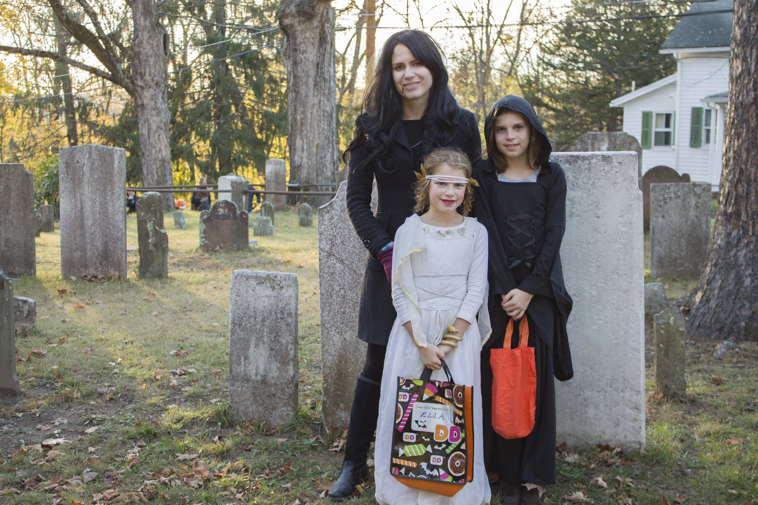 Trick or Treaters at Historic Huguenot Street, New Paltz, NY. Photo by Audrey Brand, 2016.