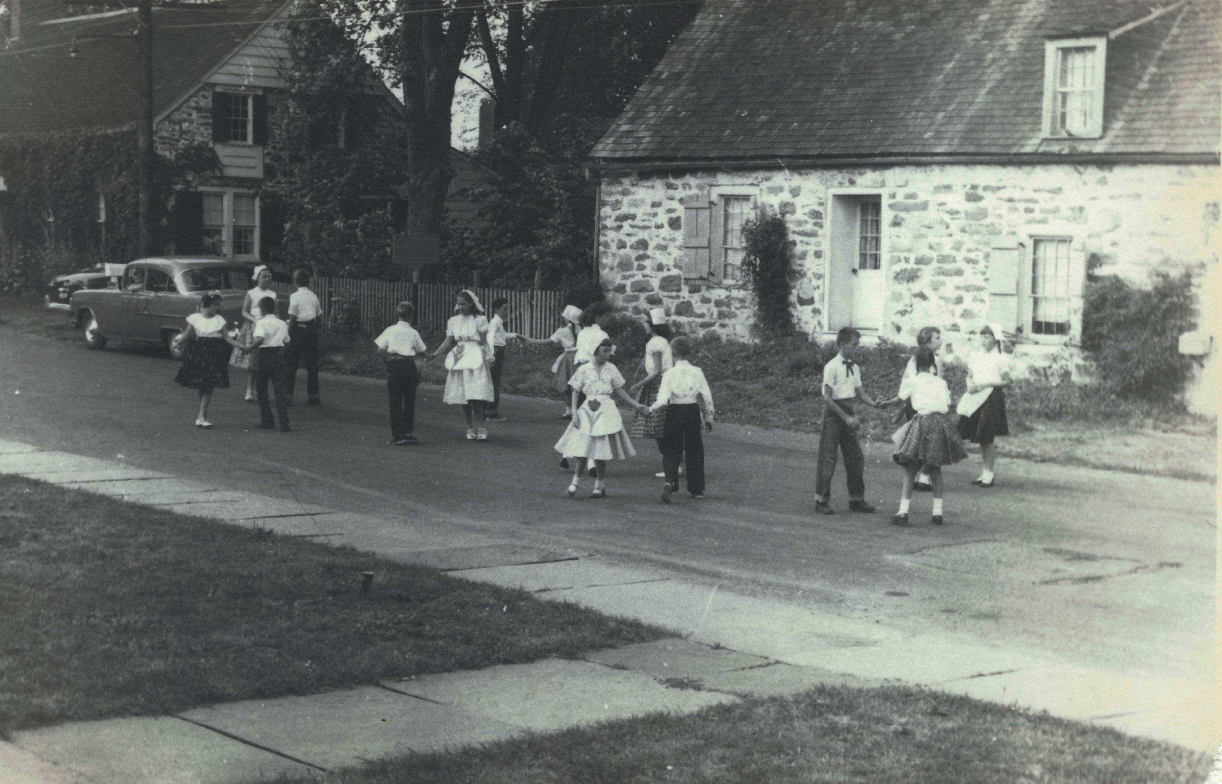 Old New Paltz Stone House Day, 1956. From the Historic Huguenot Street Archives.