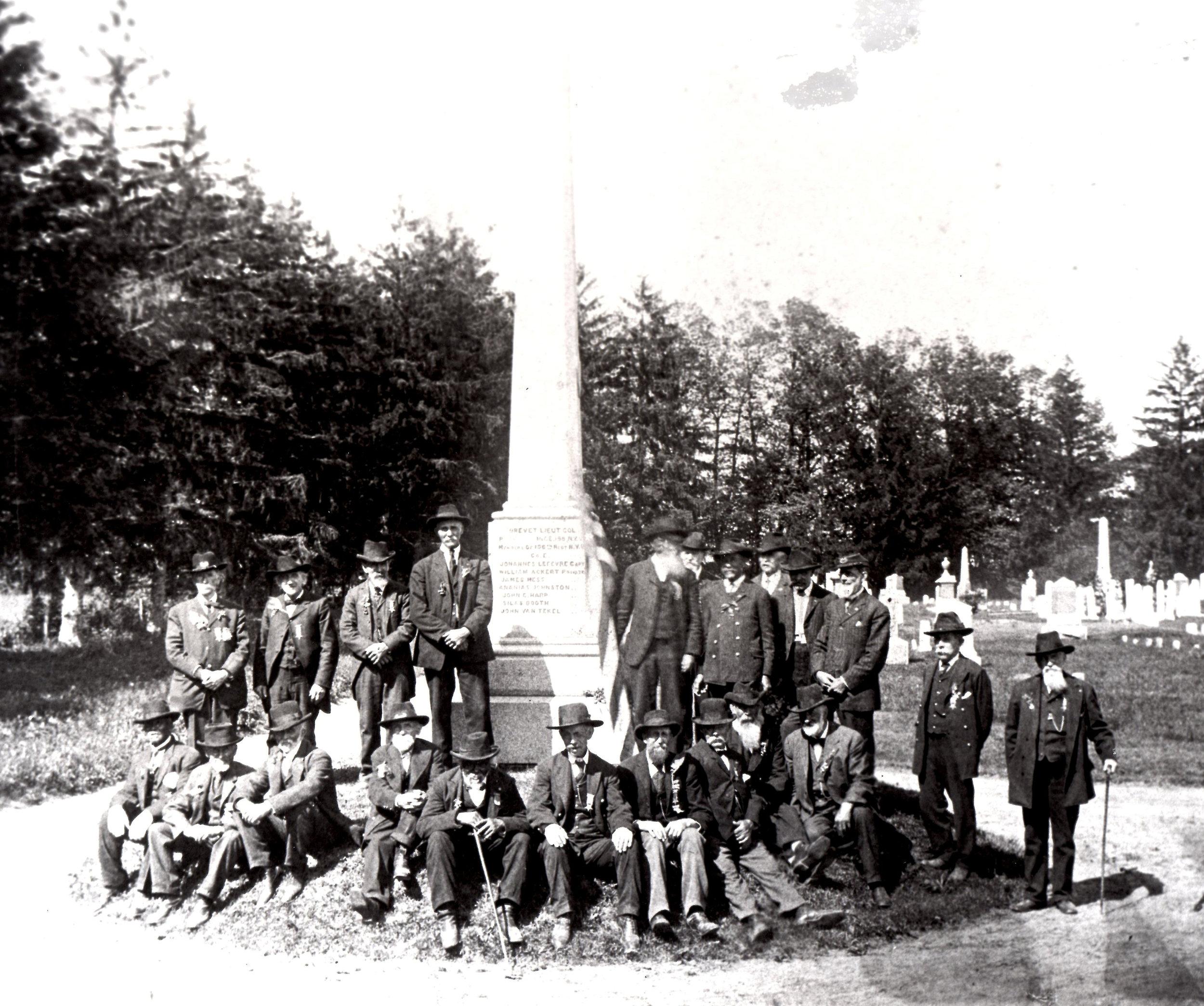 HHHC-Jacob W with GAR at NP Rural Cemetery.jpg