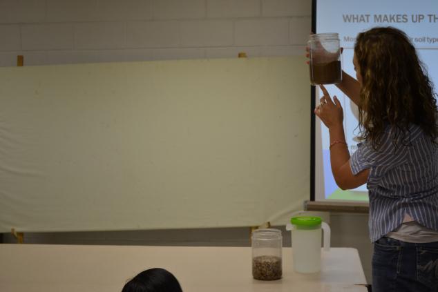 Explaining how aquifers works.