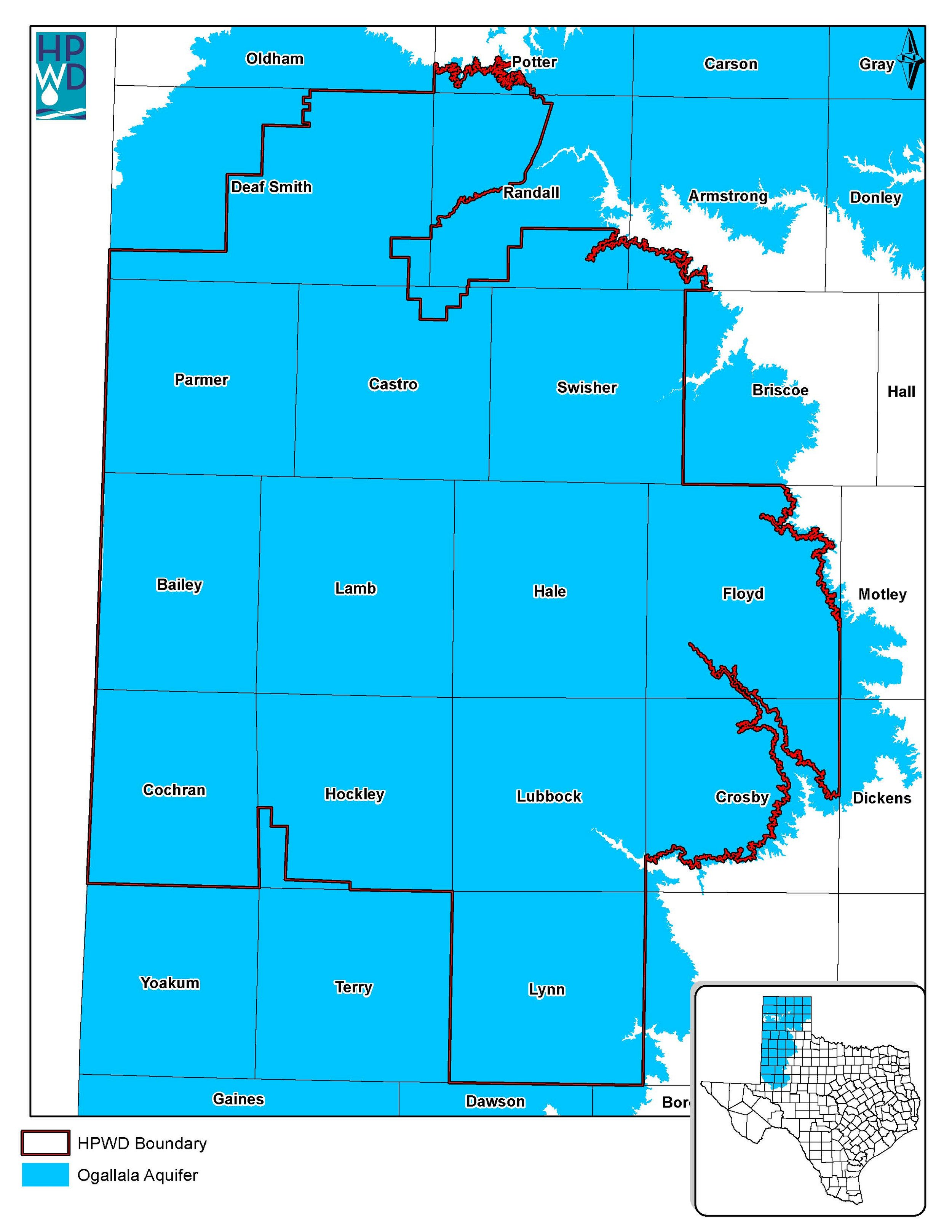 Ogallala Aquifer map.  Download map