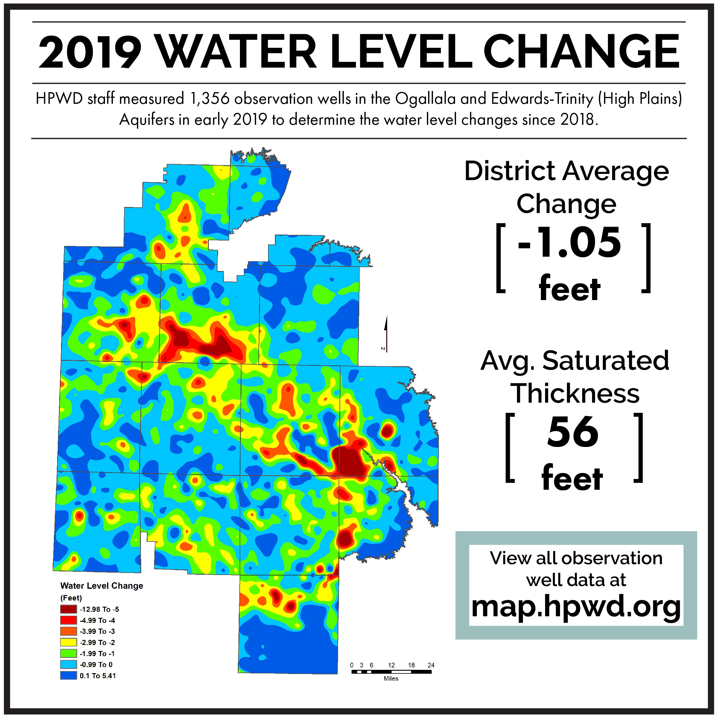 Check out water levels near your property by visiting  map.hpwd.org