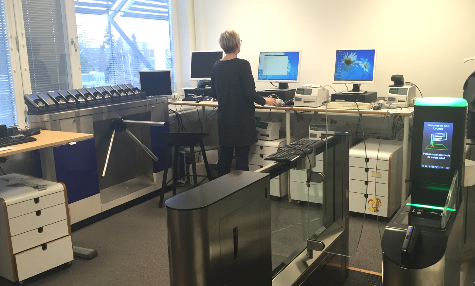 I spent some time in the lab at the head office in Frösunda.