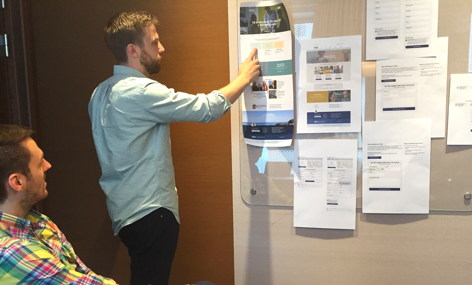 Art Director Marcus Ögren and developer Mathias Nohall in our sprint planning