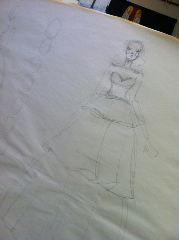 bridal sketching-super sized