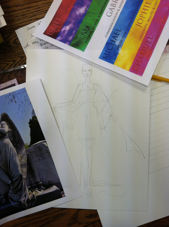 Drawing for Archangel Michael