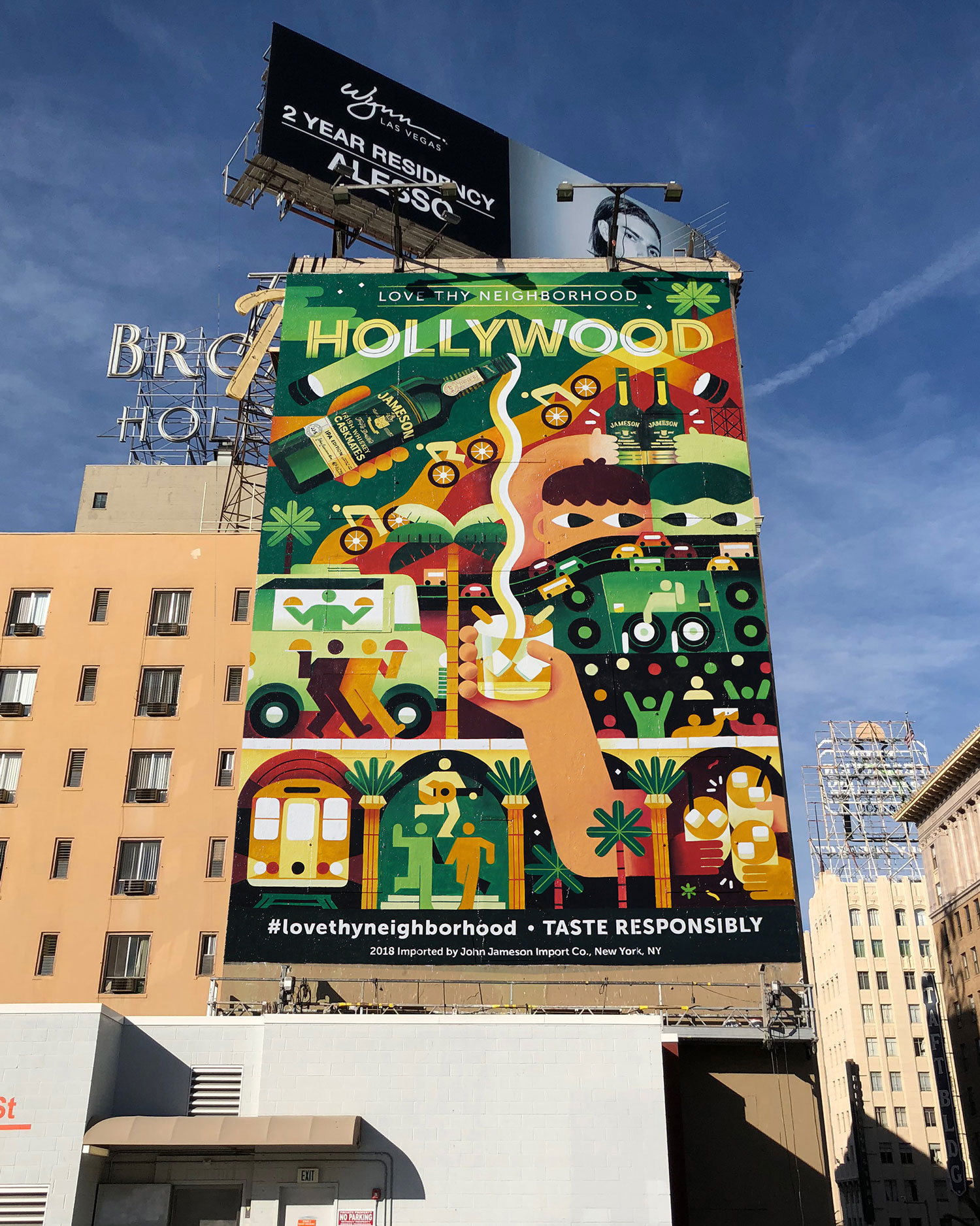 Colossal Media did a phenomenal job painting our illustration on this building near the corner of Hollywood Blvd. and Vine St.