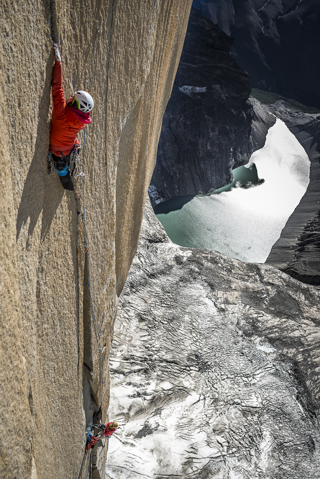 Ines on pitch 23, 7c, Riders on the Storm.  Photo: Thomas Senf