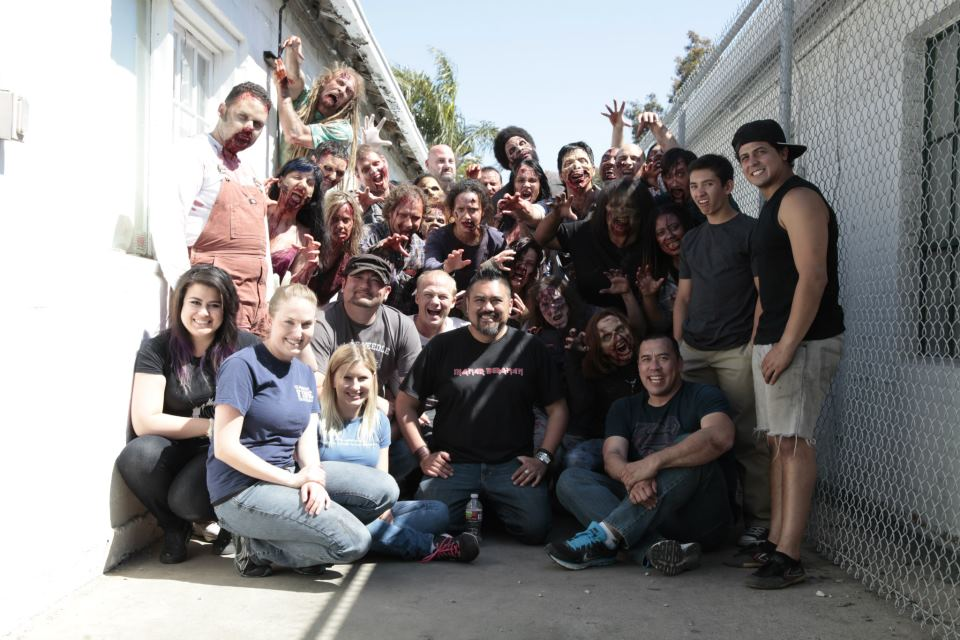 The cast and crew of Shoot Day 4