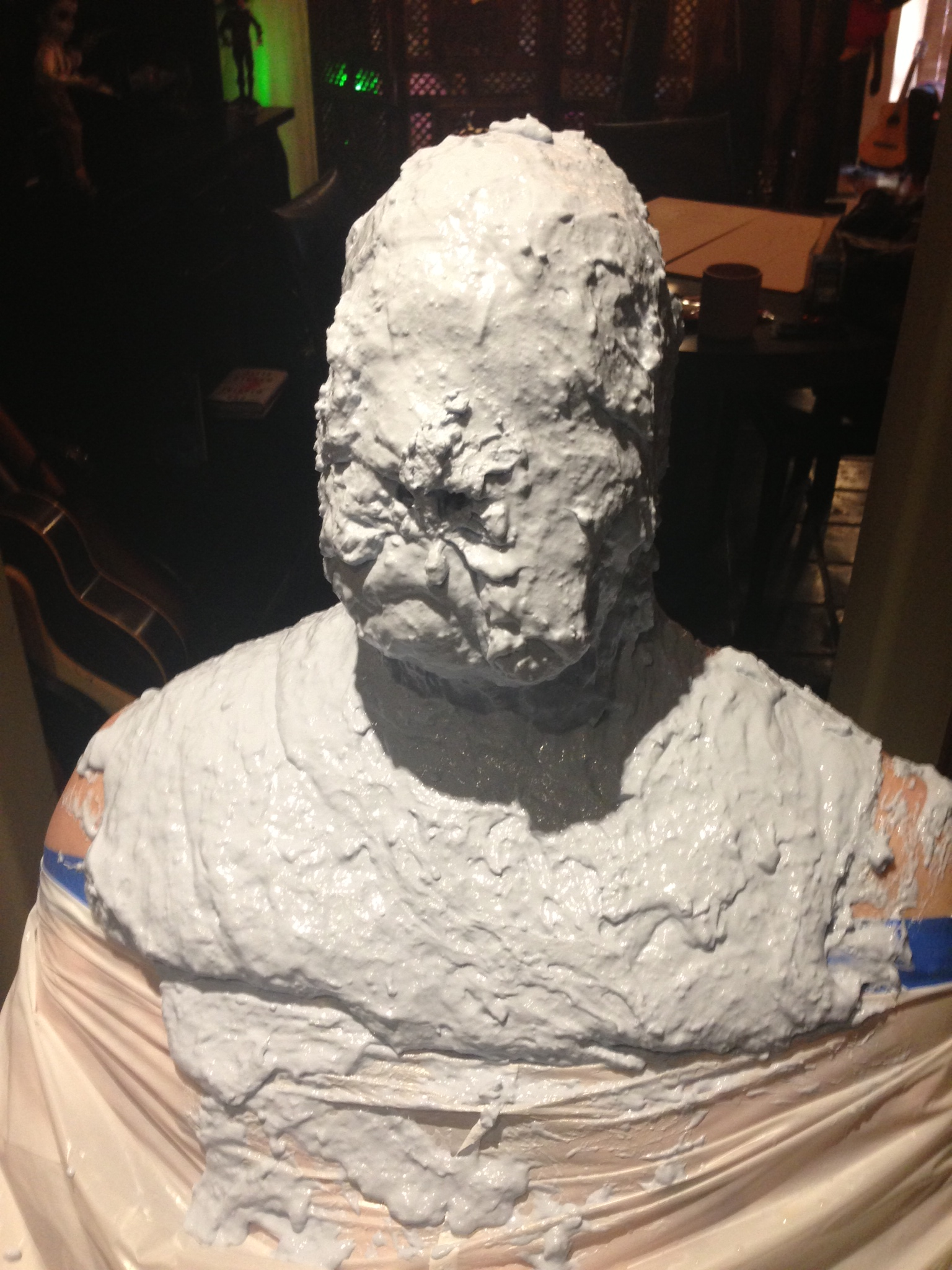 Richard Dorton getting his head mold