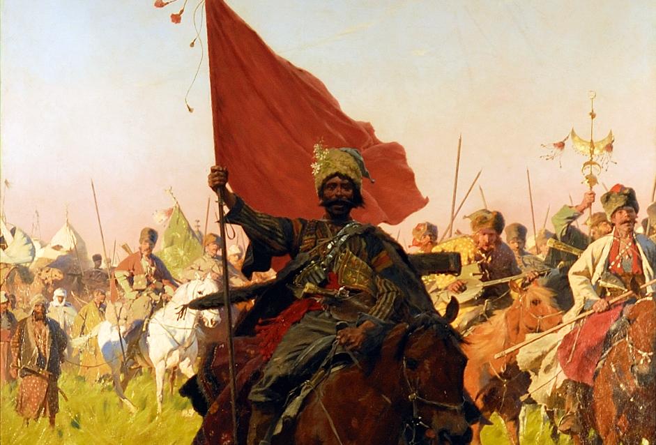 Cossacks On The March,  Josef Von Brandt, 1894