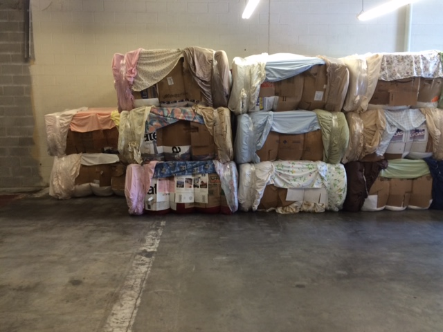 Bales ready to be shipped to buyers