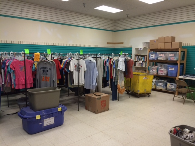 Sized clothing for kids entering foster care and stock of baby clothing for Fort Sanders babies