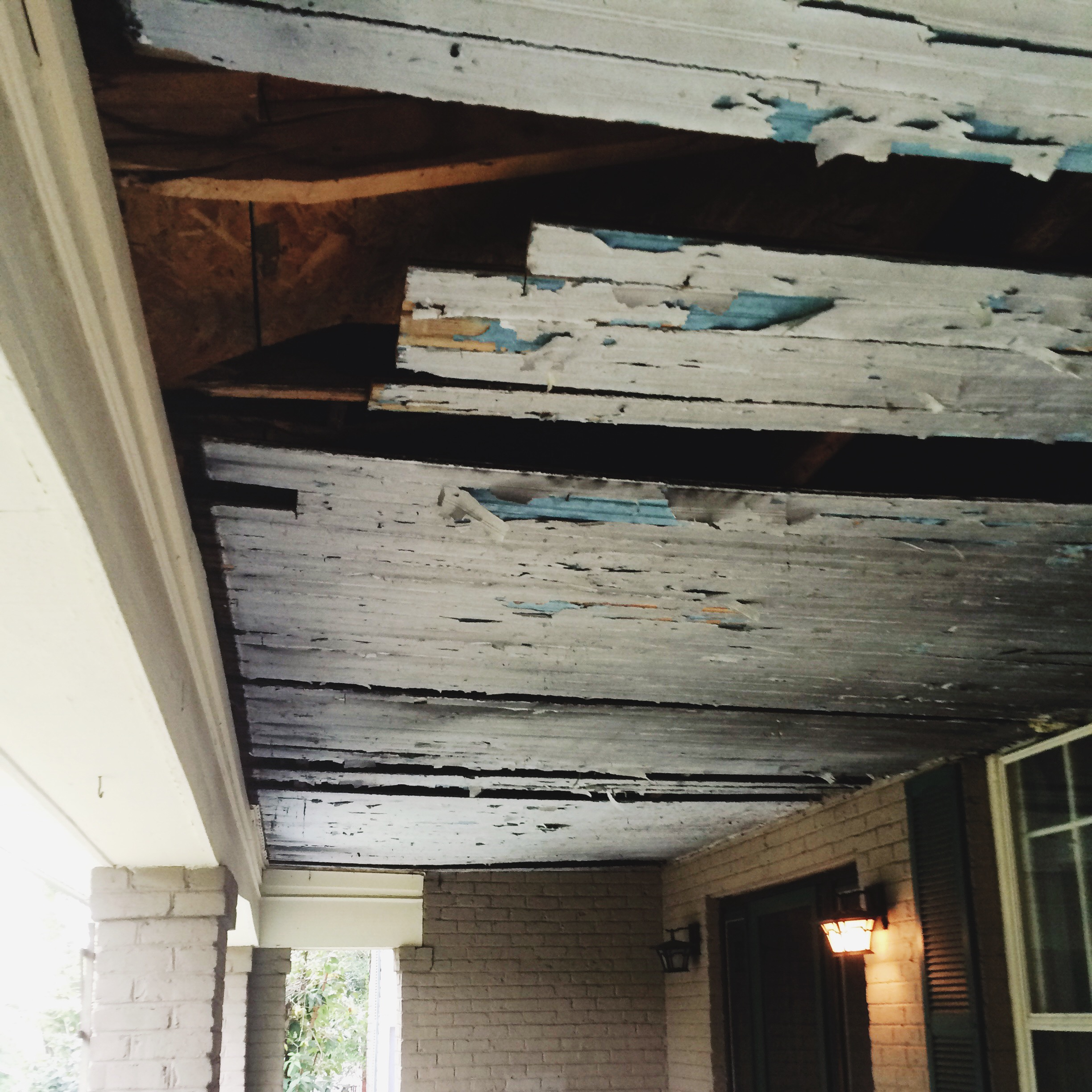 Before -this was hiding under a layer of vinyl siding