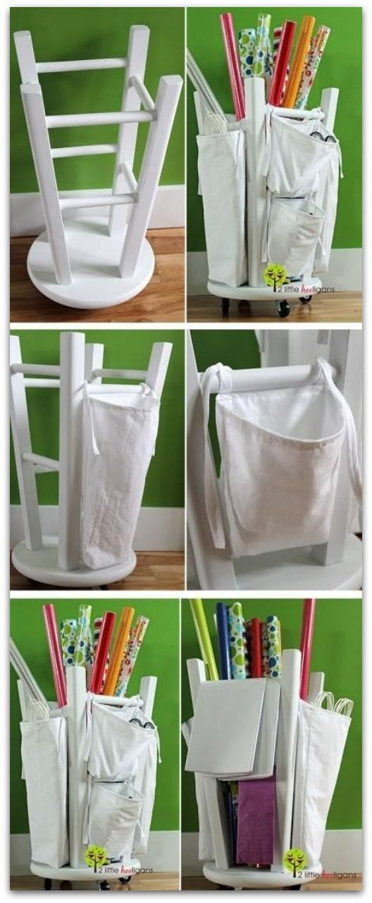 Repurpose a bar stool (Image via Princess Pinky Girl)