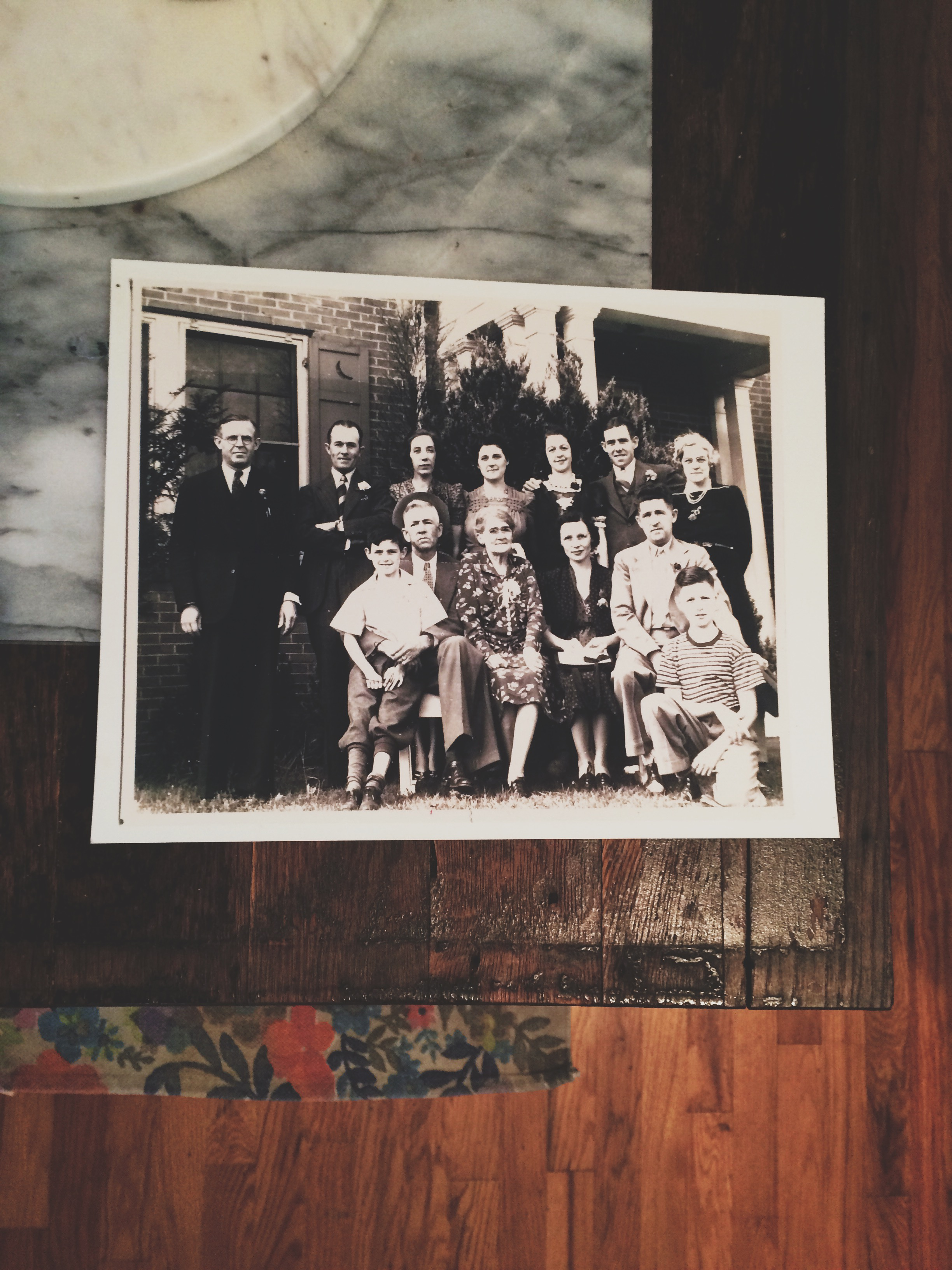 The original owners of the home: The Cunningham Family