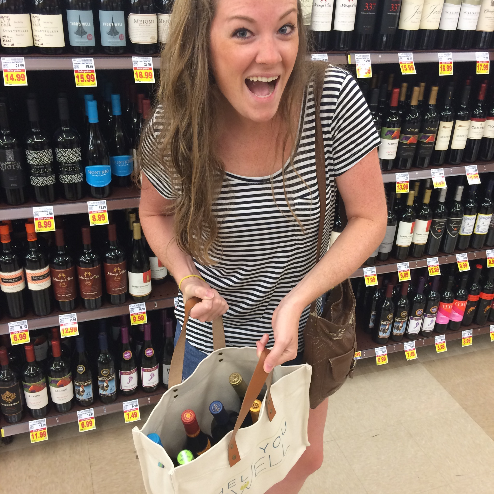 And to celebrate all the great uses of the HYD Canvas Tote... Lots of bottles of wine from your local Knoxville grocery stores will fit!