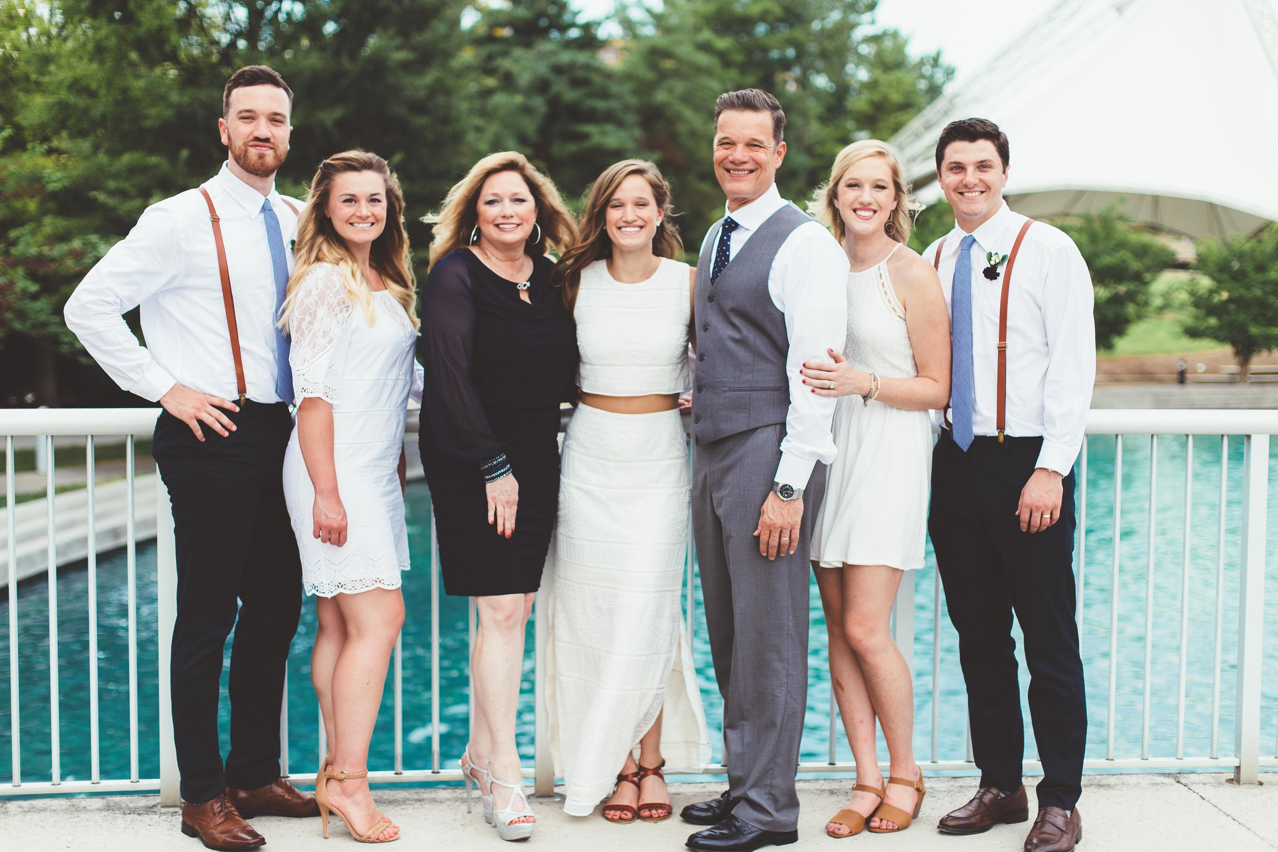 Allie & her family at her wedding.