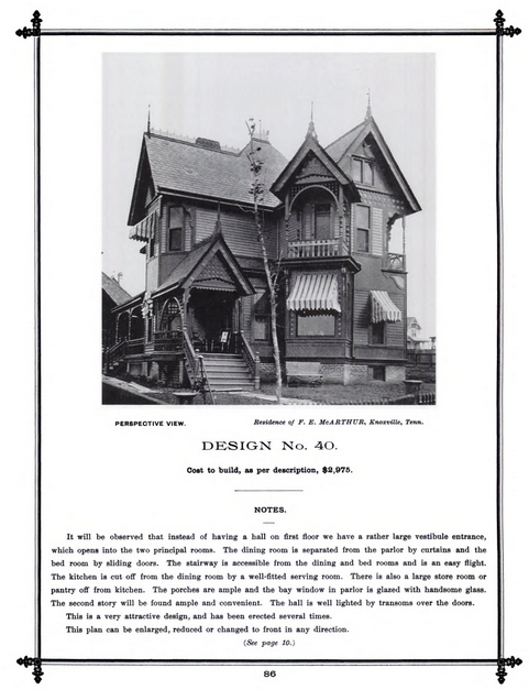 "Picture from ""Victorian Cottage Architecture: An American Catalog of Designs"""