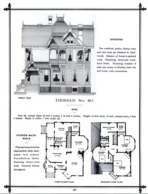 "Picture from ""Victorian Cottage Architecture: An American Catalog of Designs"