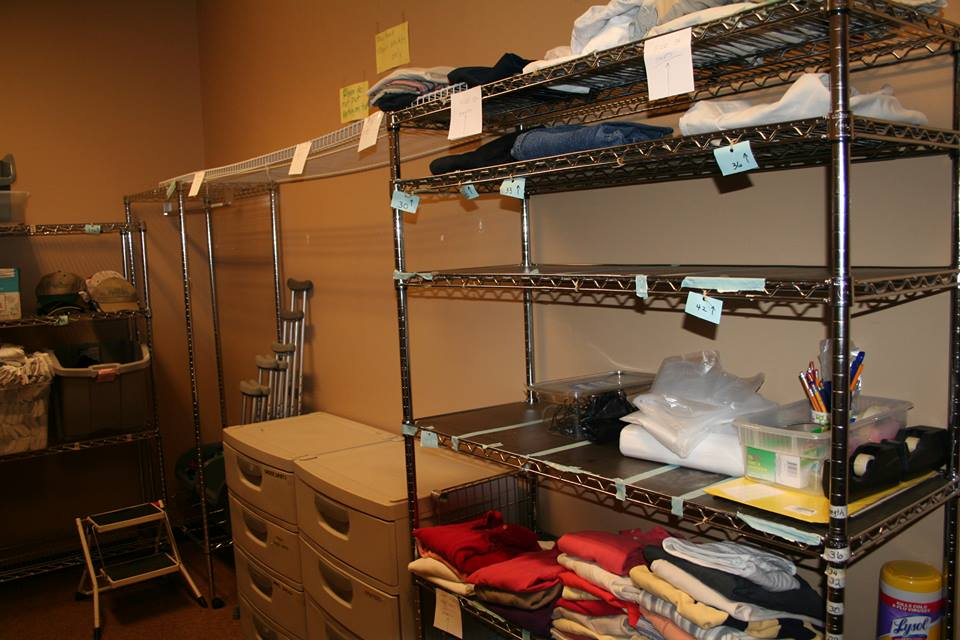 The clothing closet before