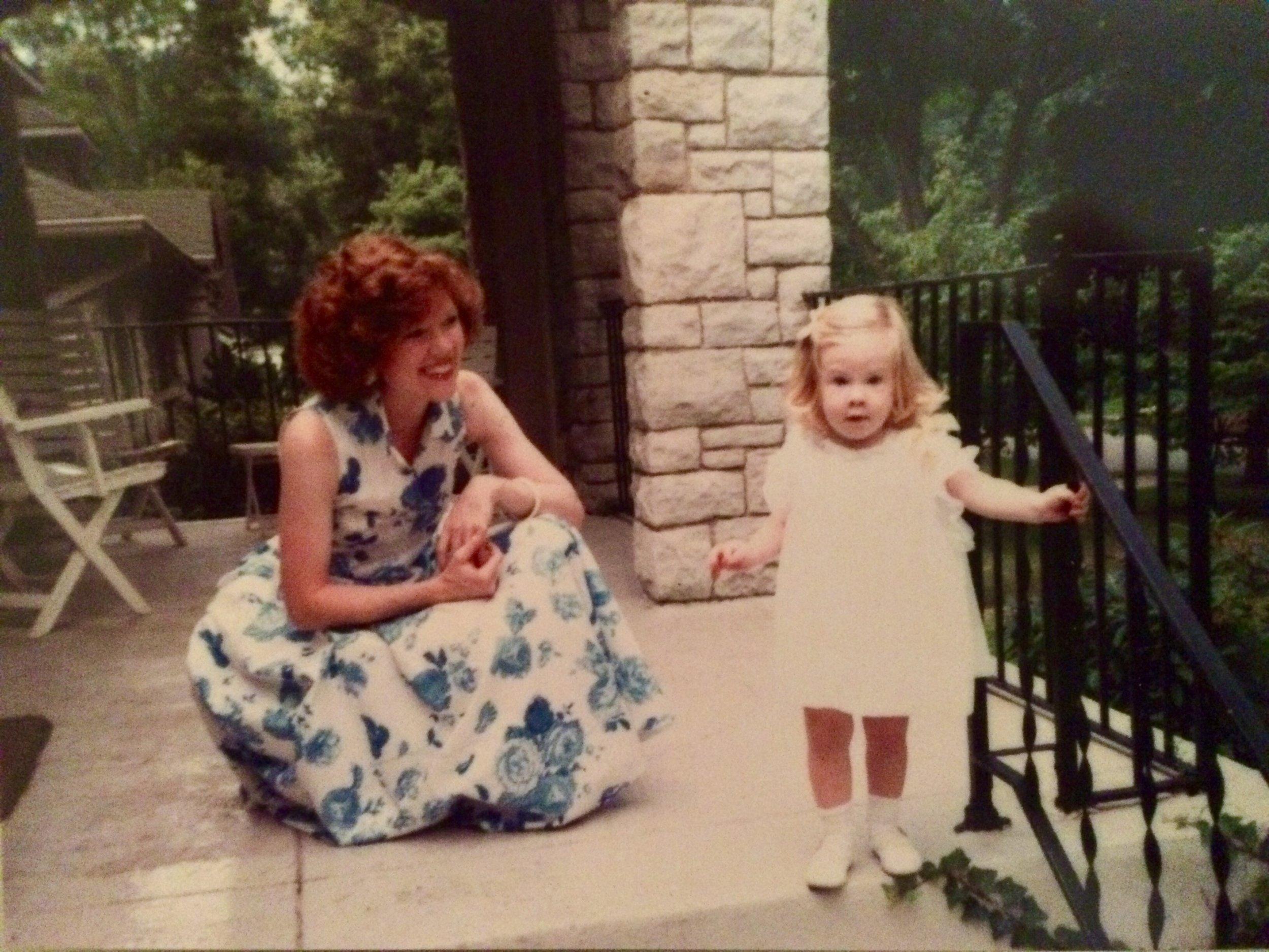 Caroline and her mom