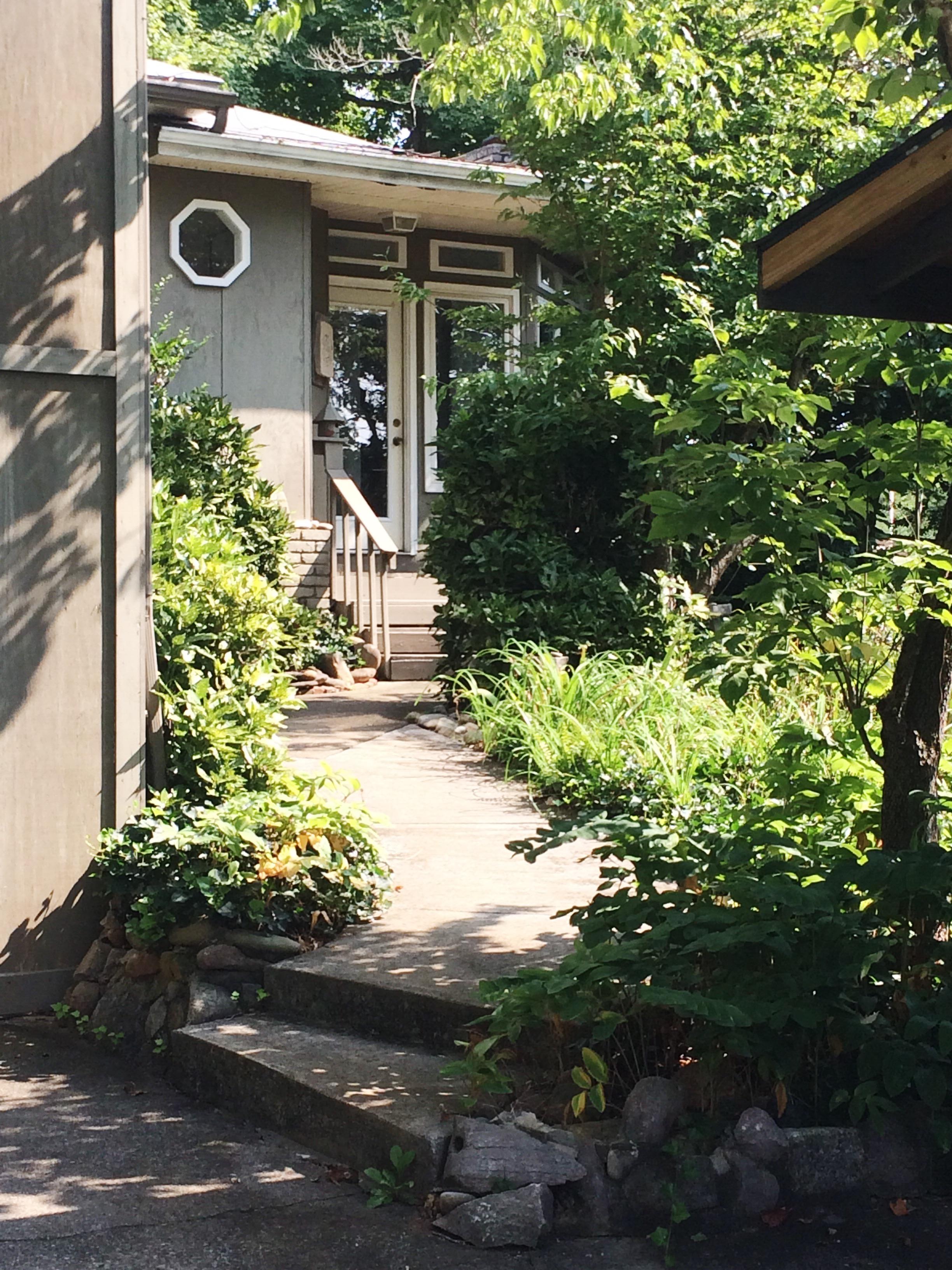 The front door of the Webb Home