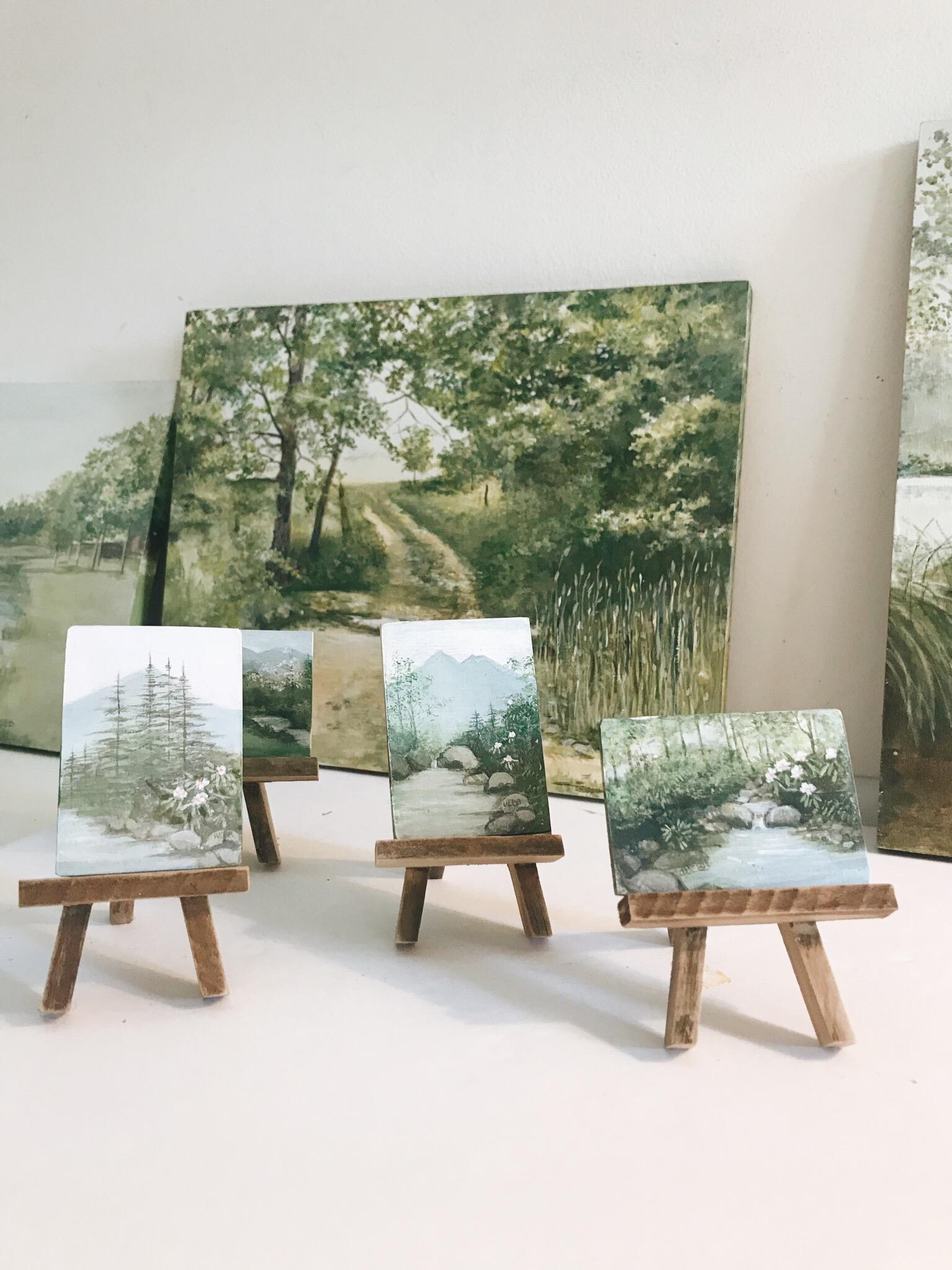 Miniature paintings by Barbara Webb