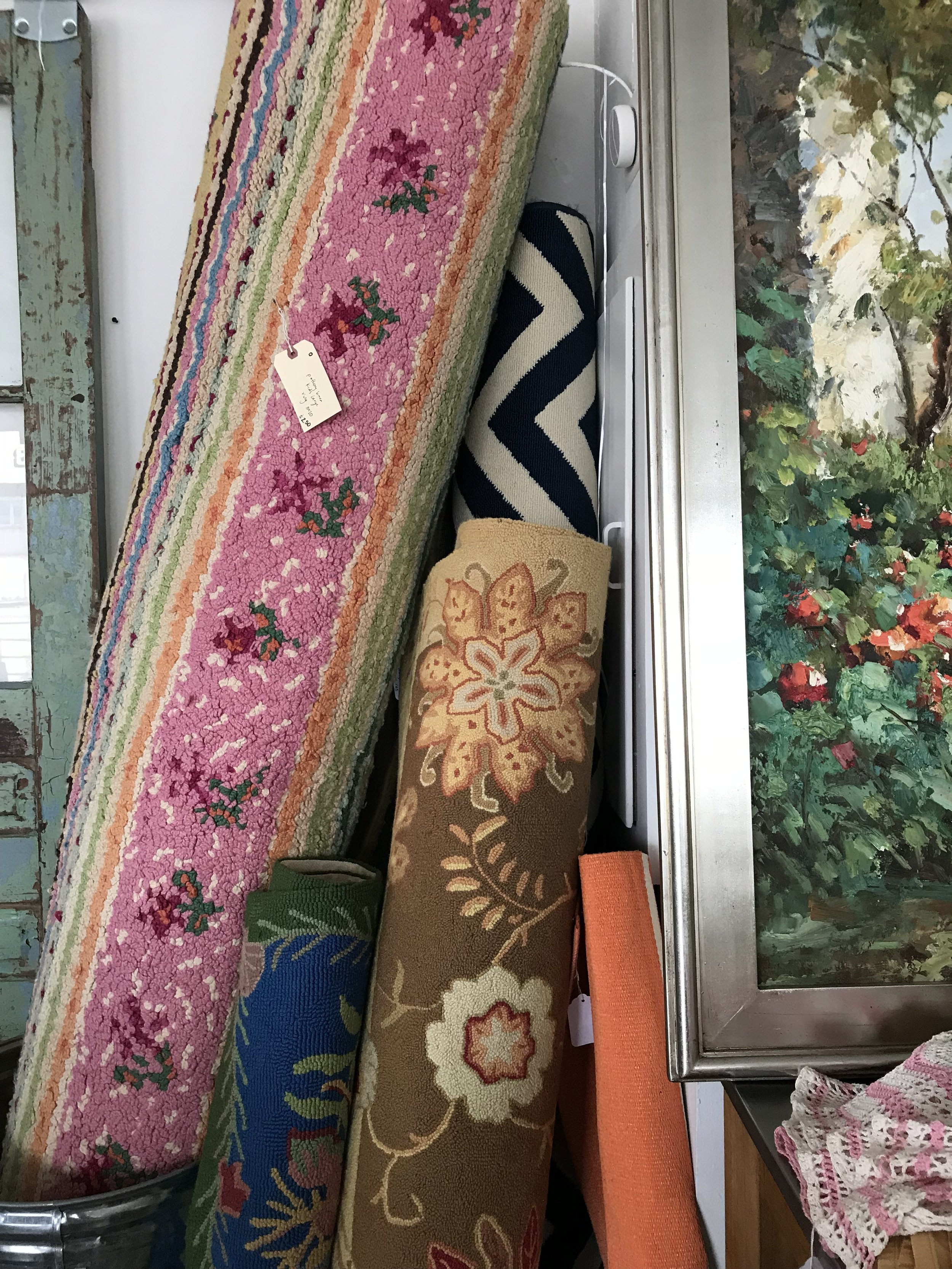 Rugs on Rugs on Rugs (we have even more than what you see in the picture!)