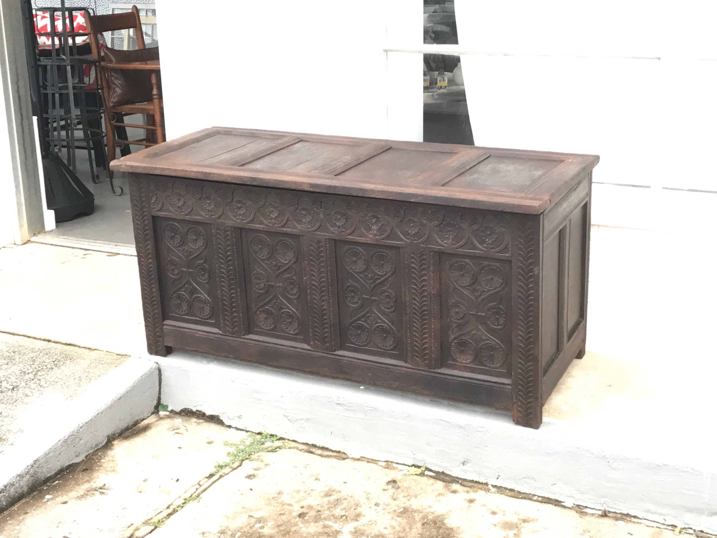 Hand carved 17th century chest!