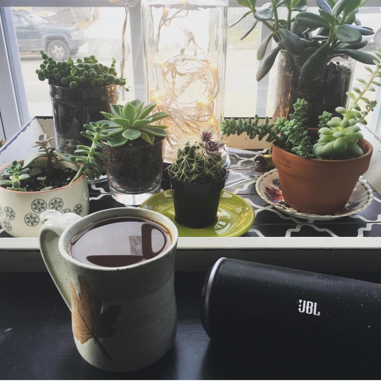 Plants and good coffee.