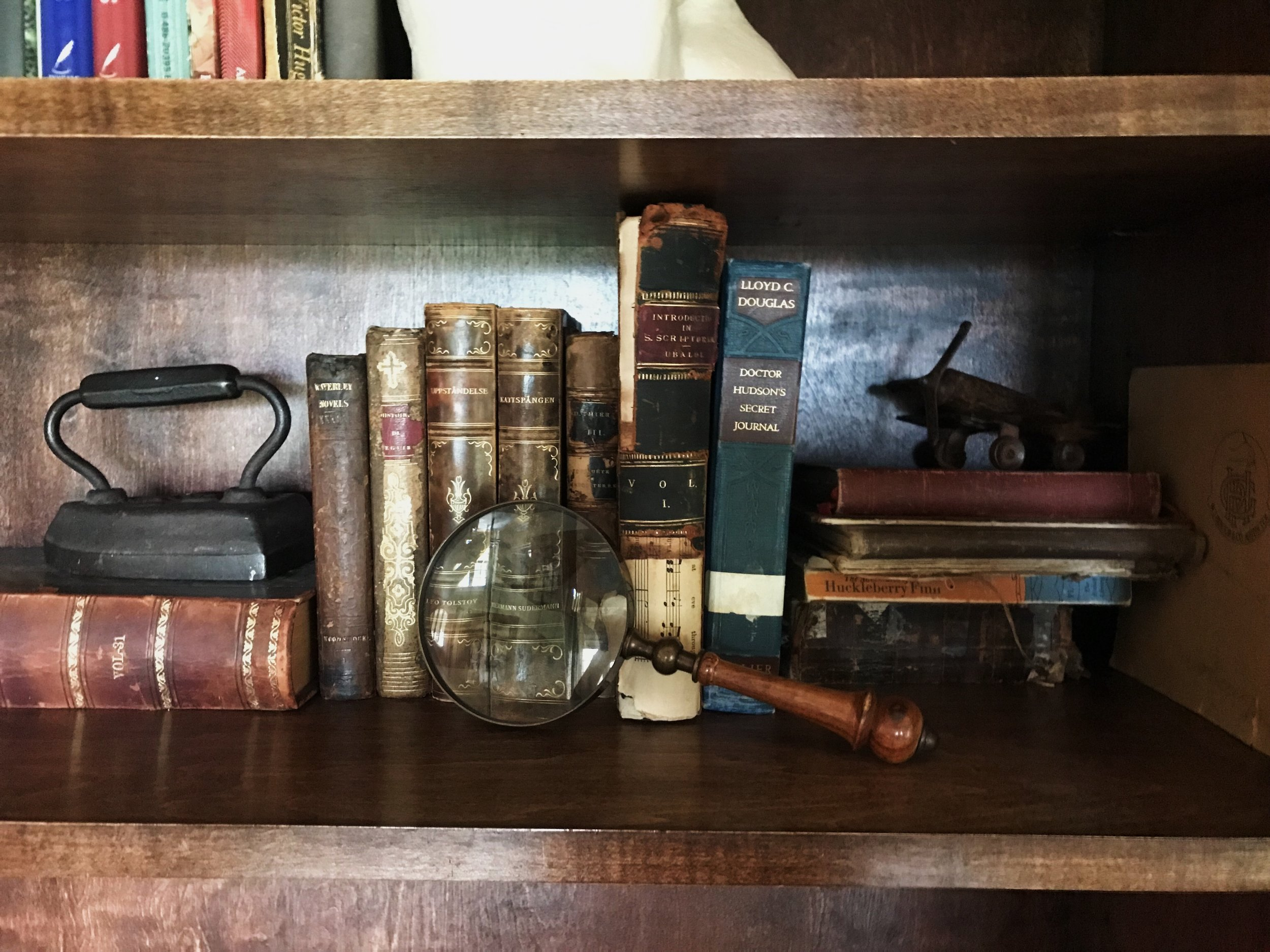collected books and treasures