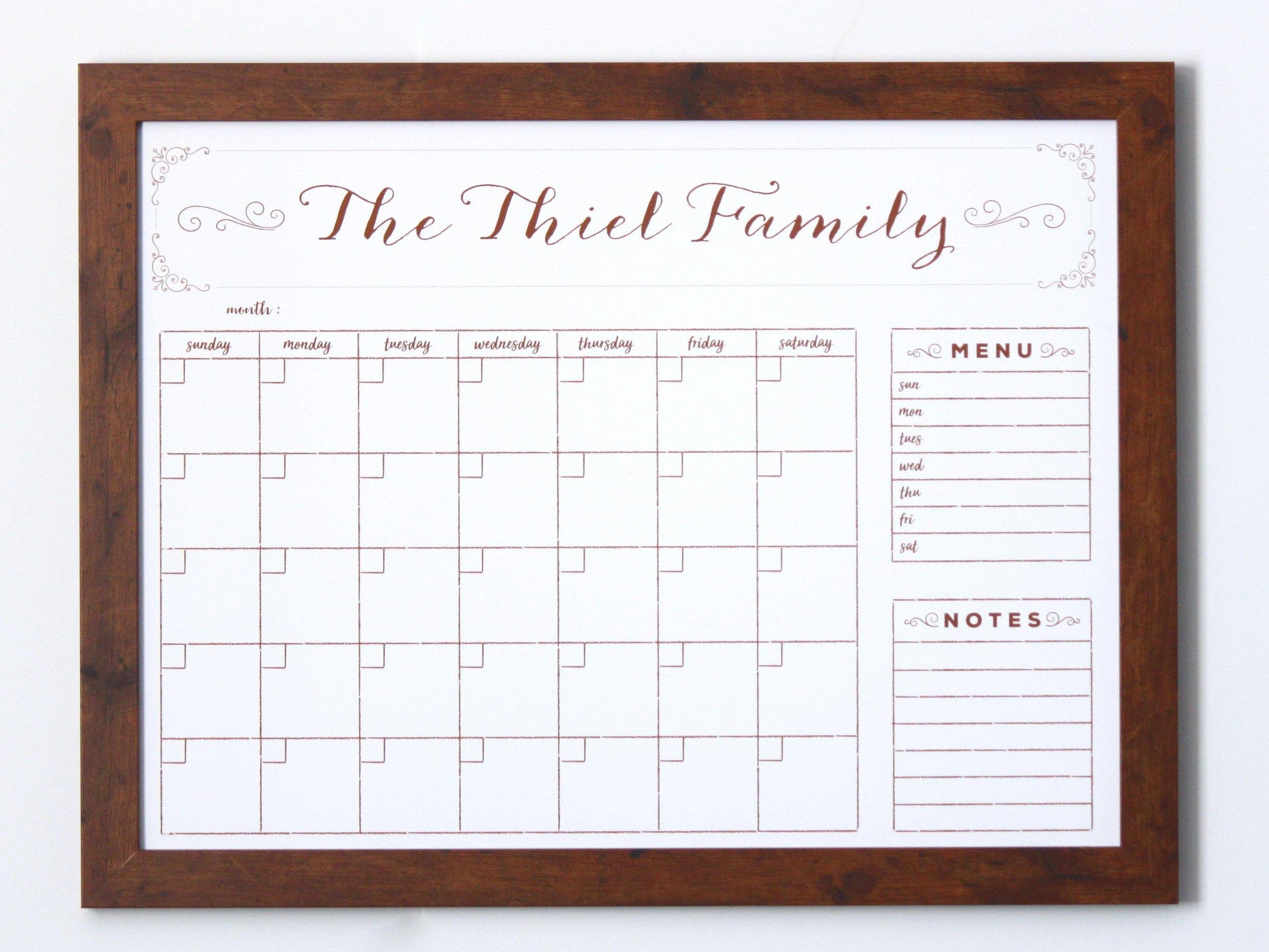 Etsy Calendar