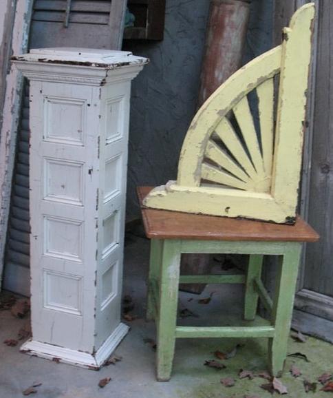 Newel Post, corbel, and stool