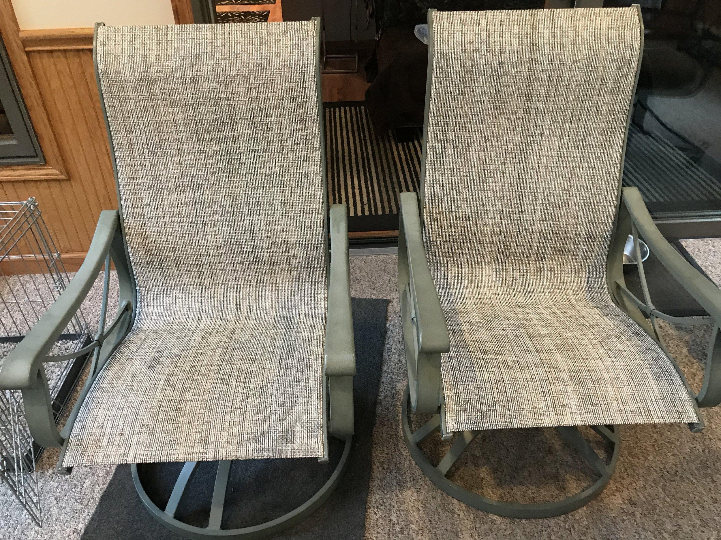 Aluminum Frame Furniture witih Natural Grasscloth Material