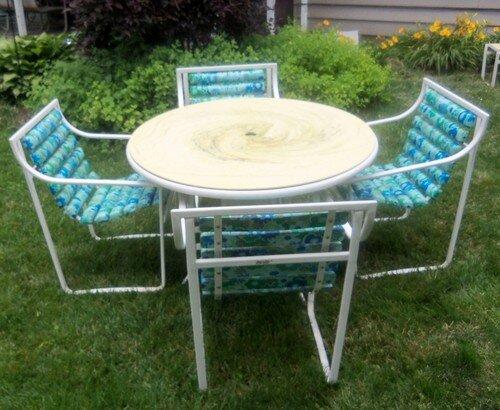 Padded Slat Dining Set (circa 70's/80's)