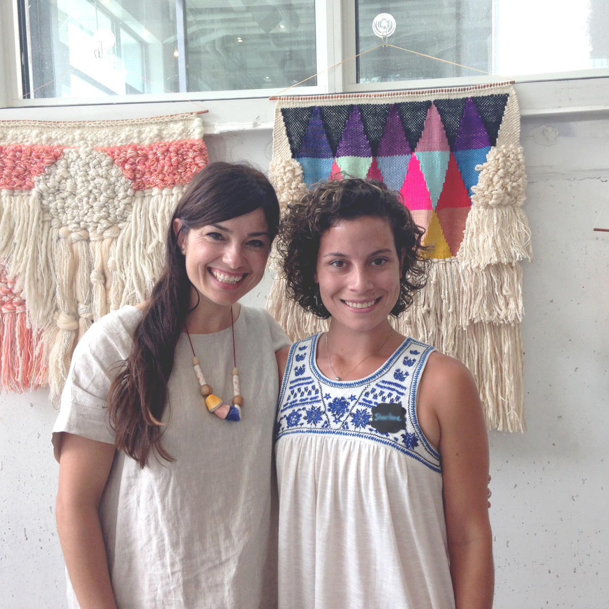 Maryanne and I. Aren't her weavings out of this world?!
