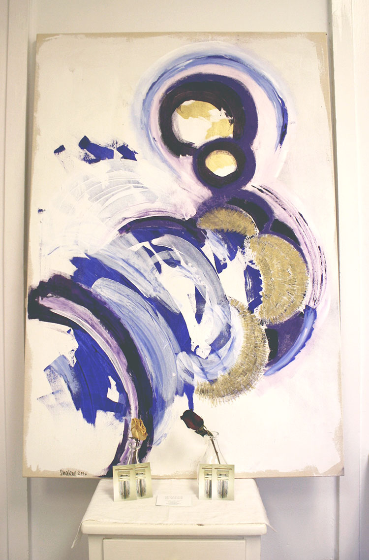 acrylic & pastel on canvas
