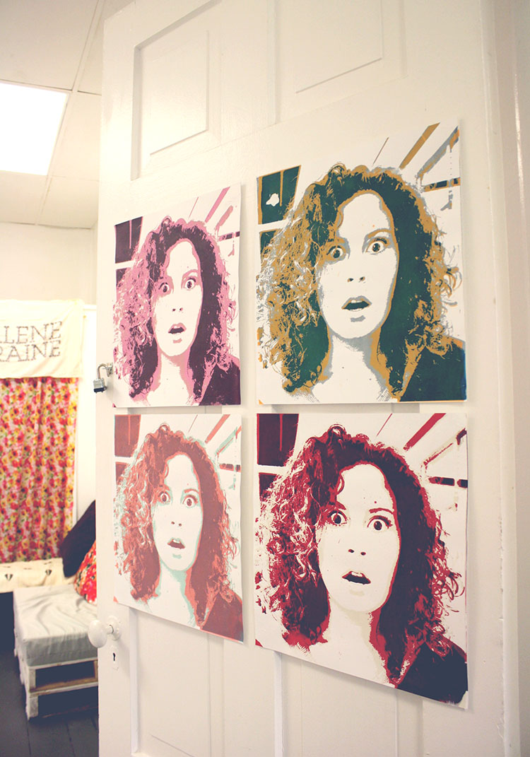 screen print self portraits