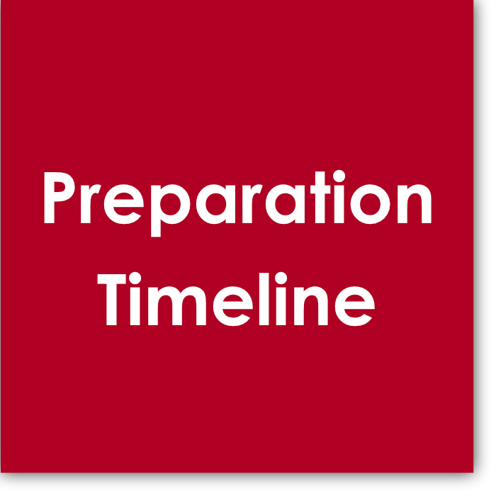 The  Preparation Timeline  is a visual snapshot and overview. In it you'll find information about how many months are involved in preparation, what should be accomplished, when exams typically take place, as well as how to structure the lesson, assignments, and the portion of each lesson that should be spent on the individual areas of the exam at lessons.