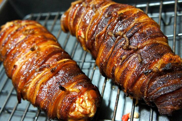 Bacon Wrapped Stuffed Chicken