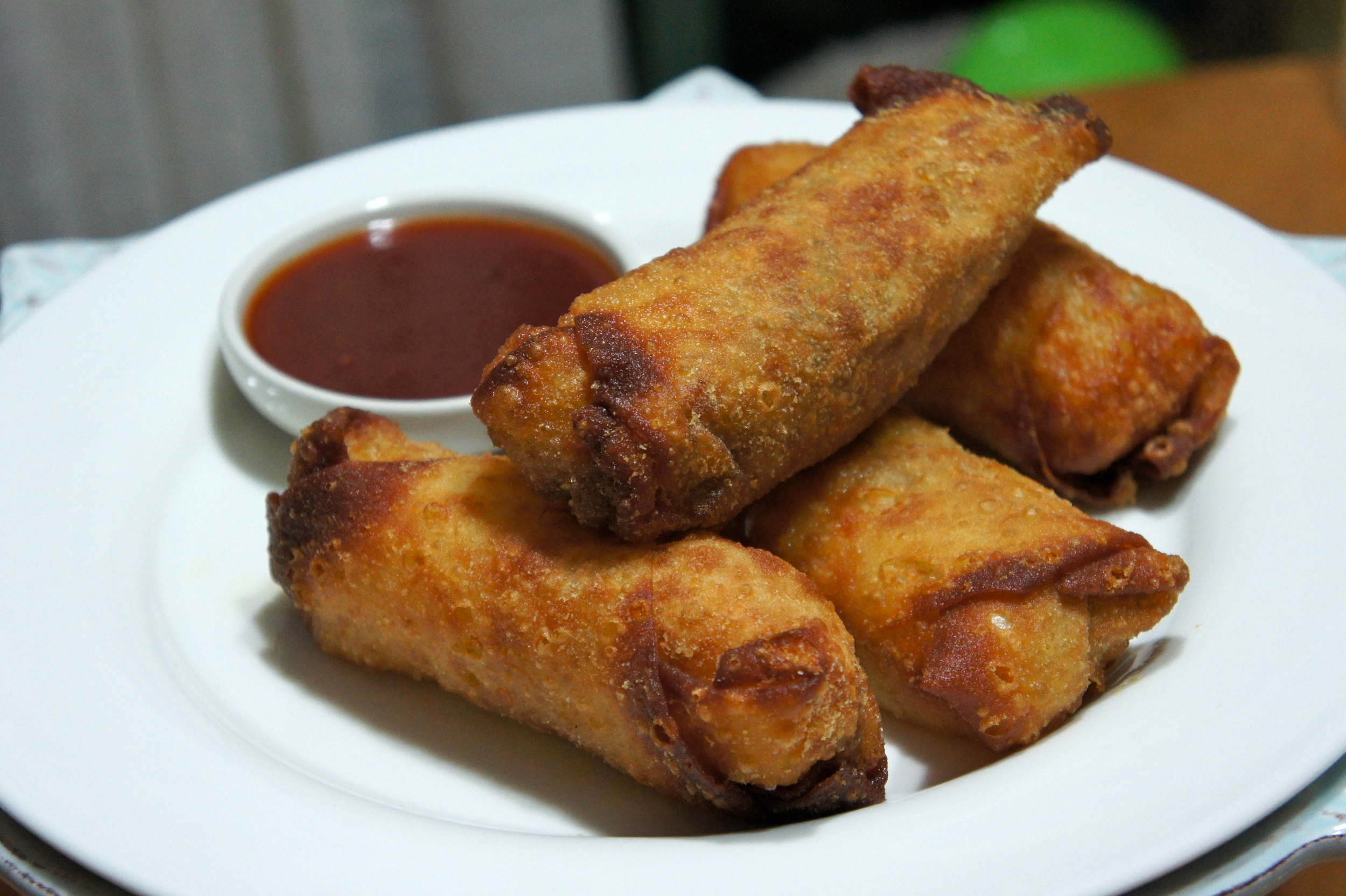 Eggroll Stack with Sweet N' Sour Sauce