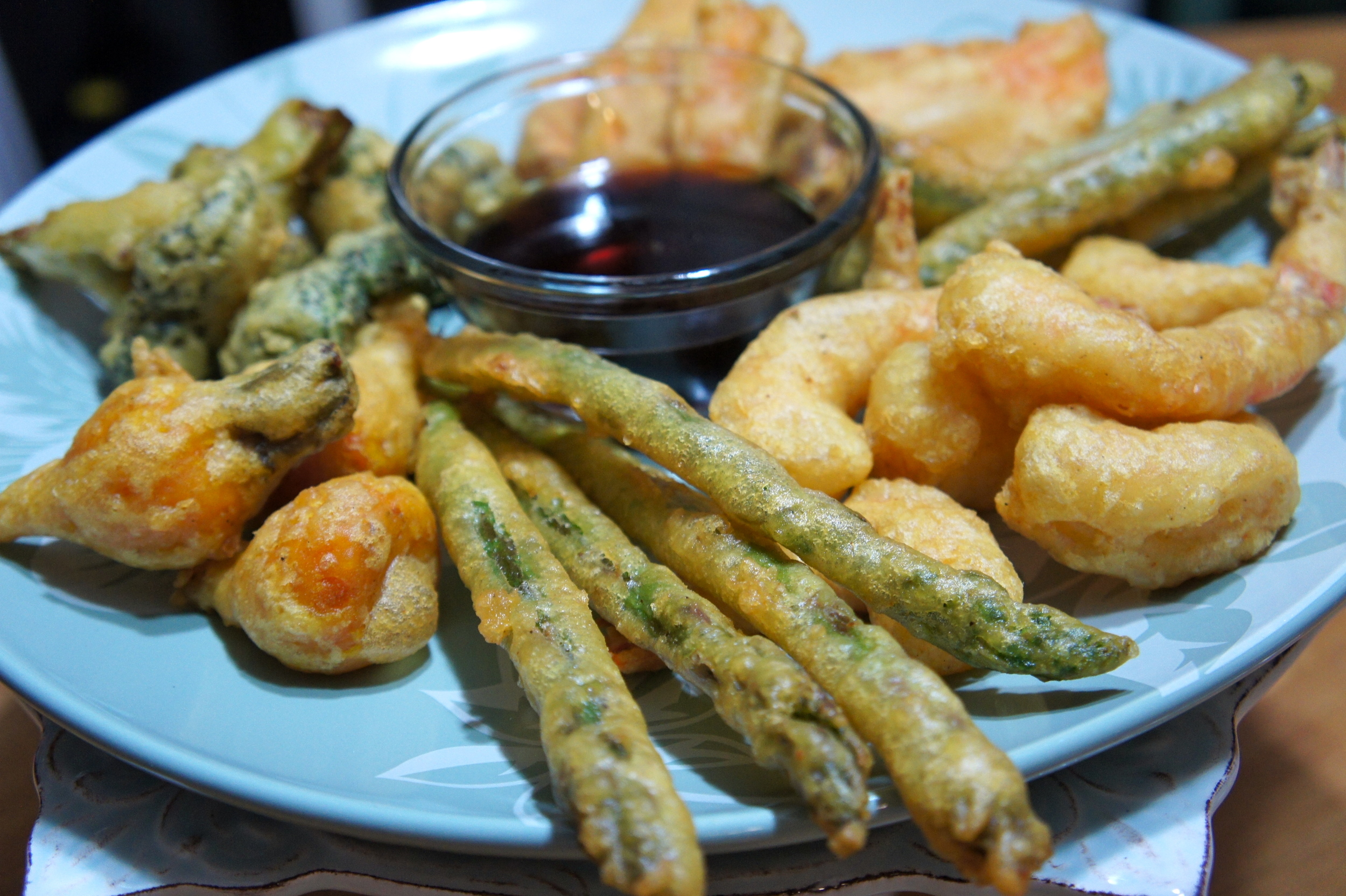 Veggie and Shrimp Tempura with Ponzu Sauce