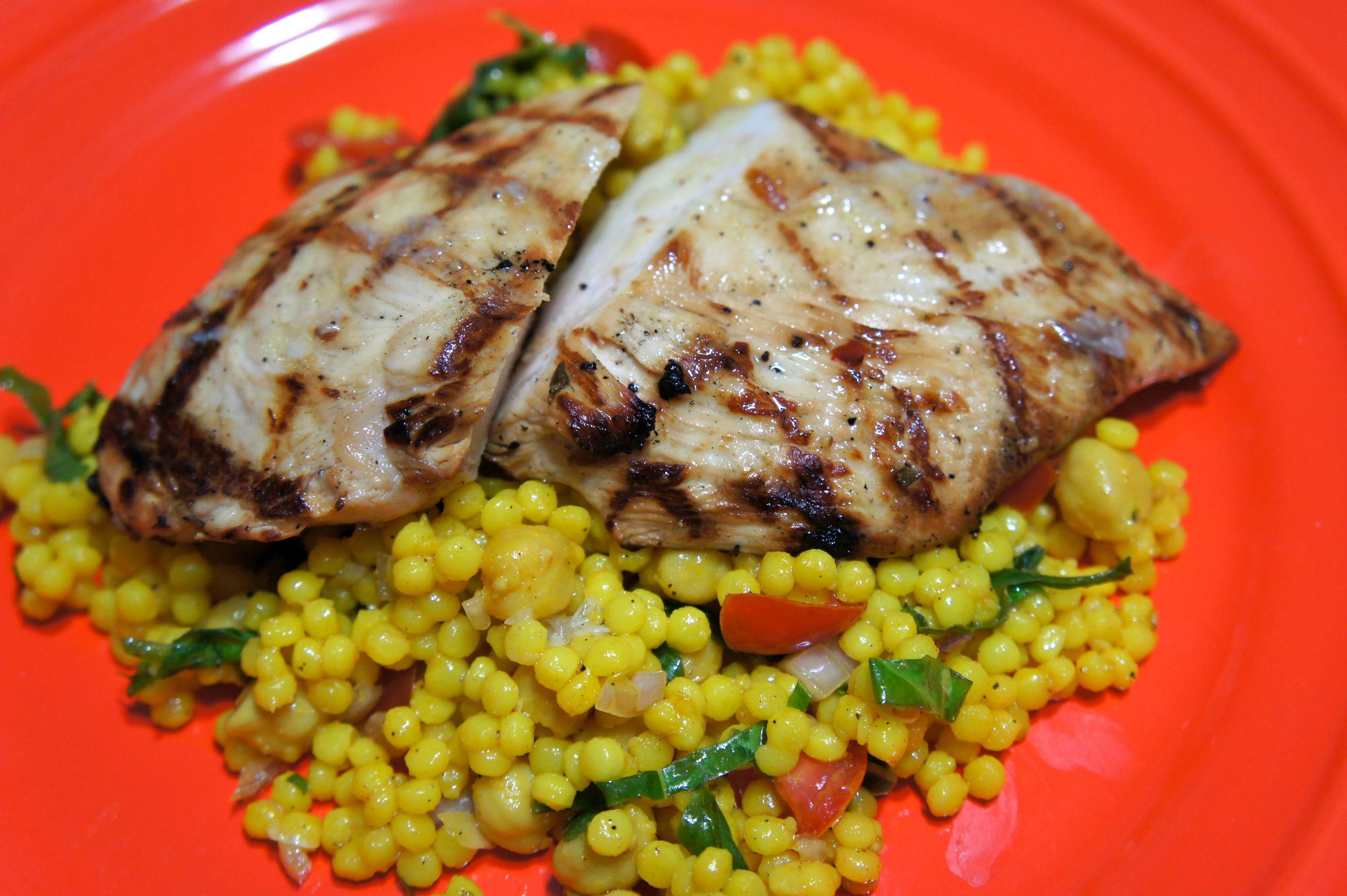 Garlic Lemon Chicken with Couscous Salad