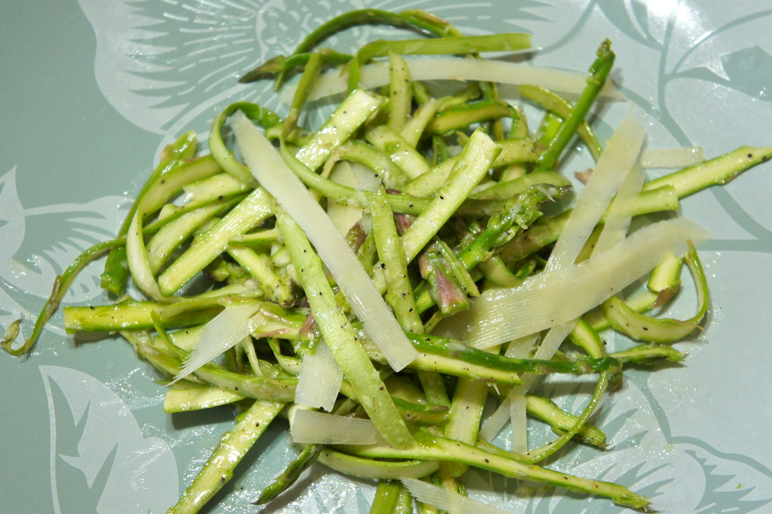 Shaved Aspsparagus Salad with Parmesan Vinaigrette