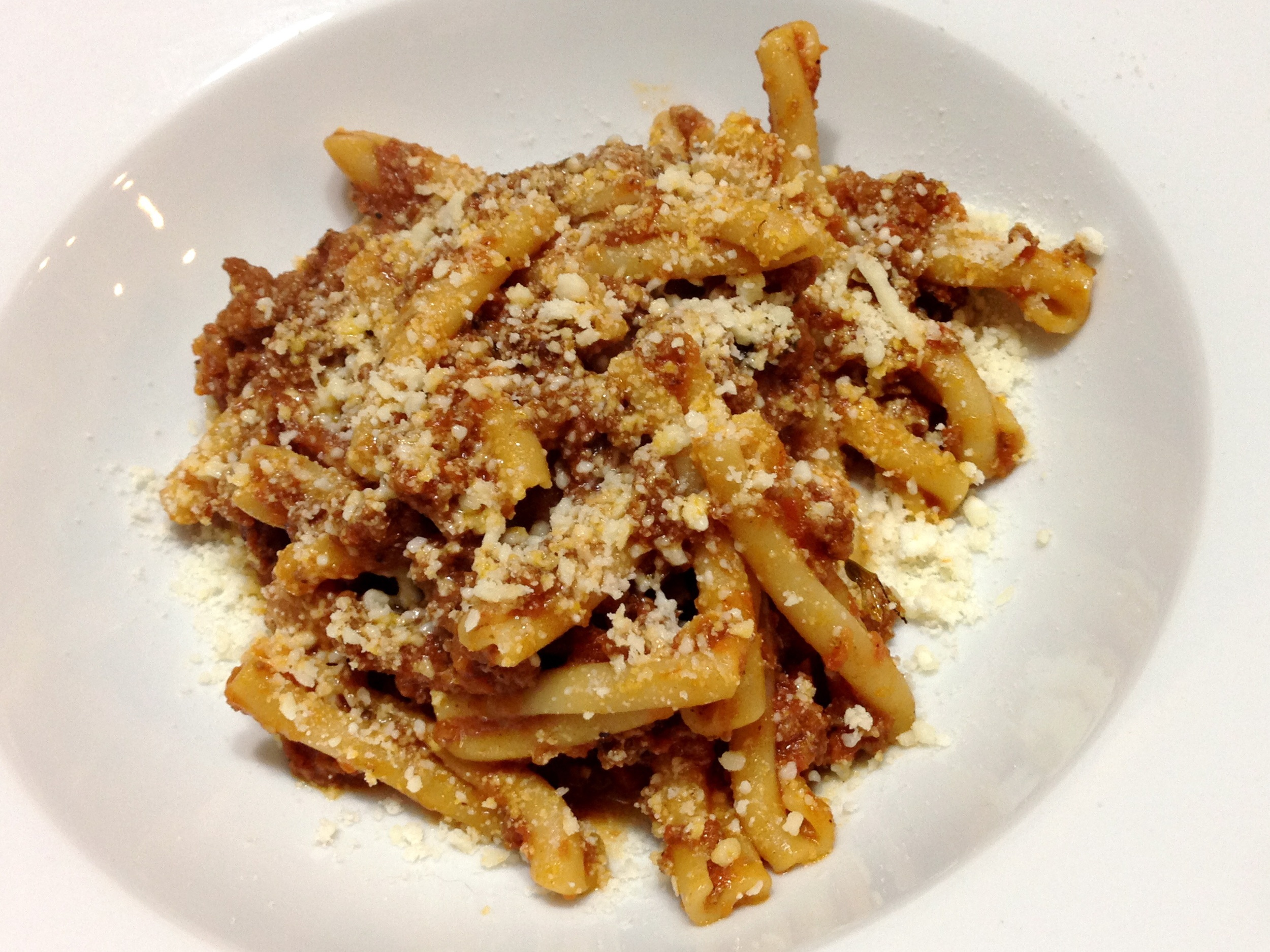 """Quick"" Bolognese with Casarecce"