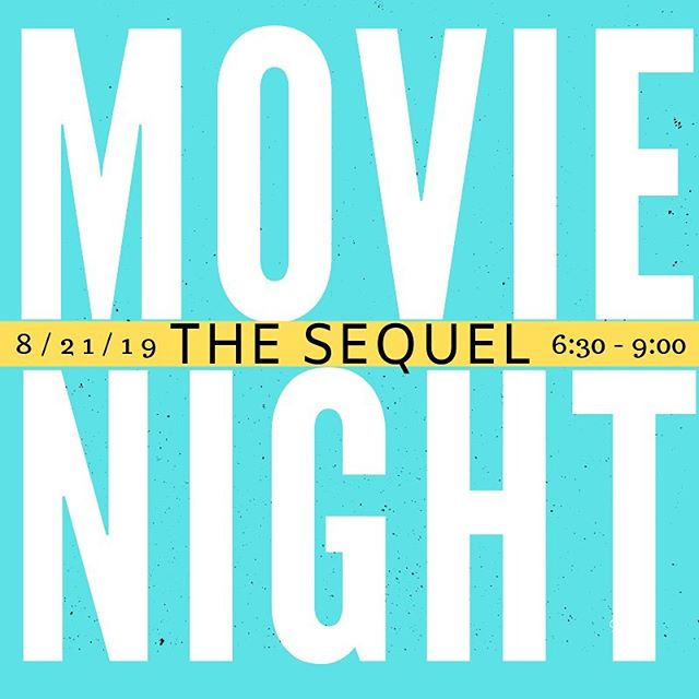 Movie Night (the sequel) TOMORROW! 6:30pm - 9:00pm, at Crossview Church!  BYOB (bring your own blankie), and maybe some snacks and FRIENDS too!  DM this account for any questions or concerns
