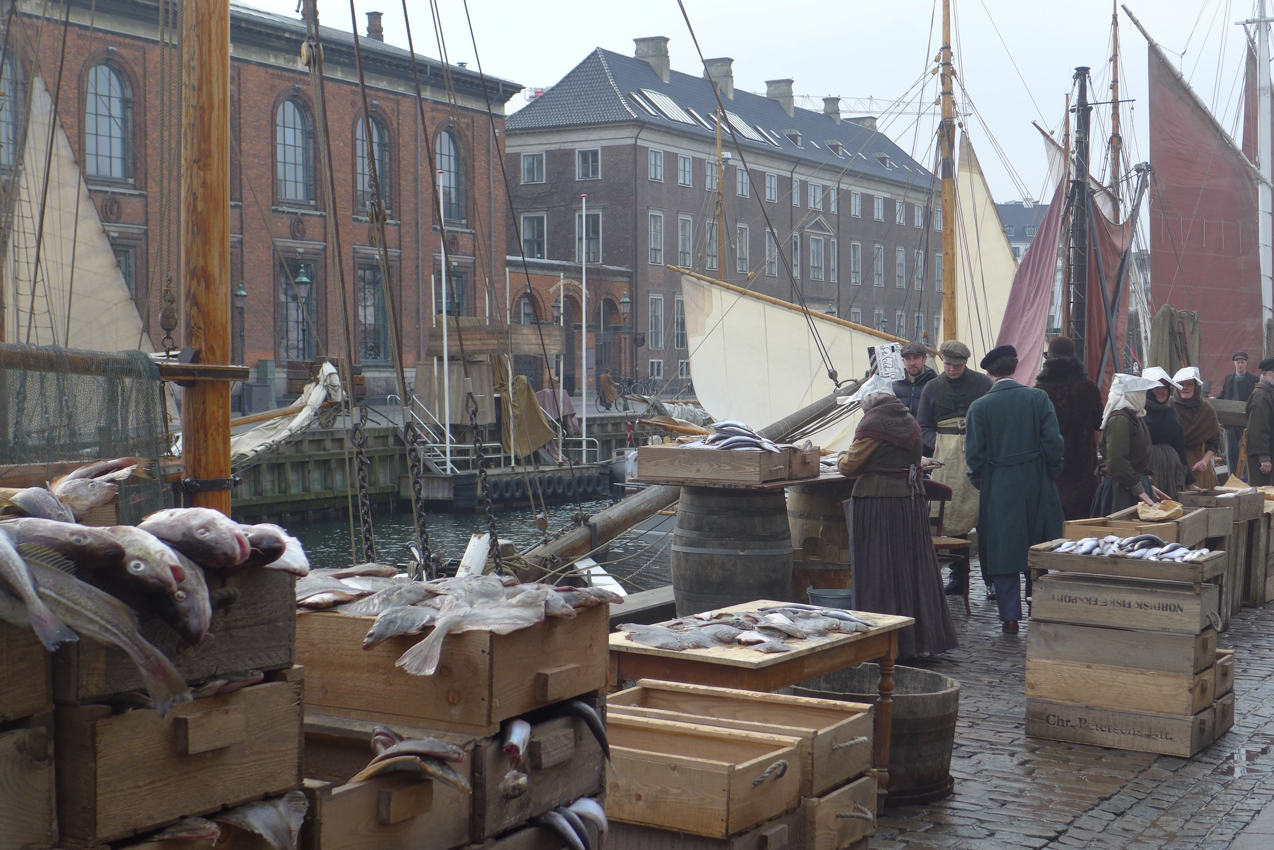 The Danish Girl. Copenhagen Harbour. Production Design Eve Stewart. Set Decoration Mike Standish.