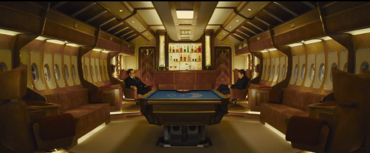 Kingsman: The Golden Circle. Statesman Jet. Courtesy of MARV. Production Design Darren Gilford. Set Decoration Rosemary Brandenburg.