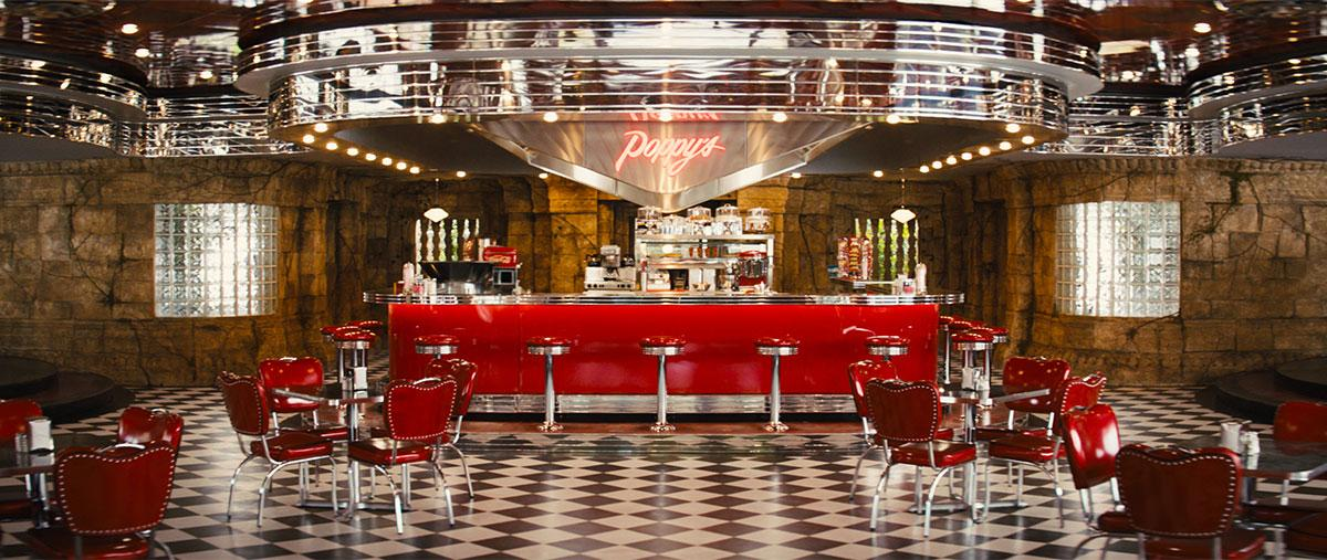 Kingsman: The Golden Circle. Poppy's Diner. Courtesy of MARV. Production Design Darren Gilford. Set Decoration Rosemary Brandenburg.